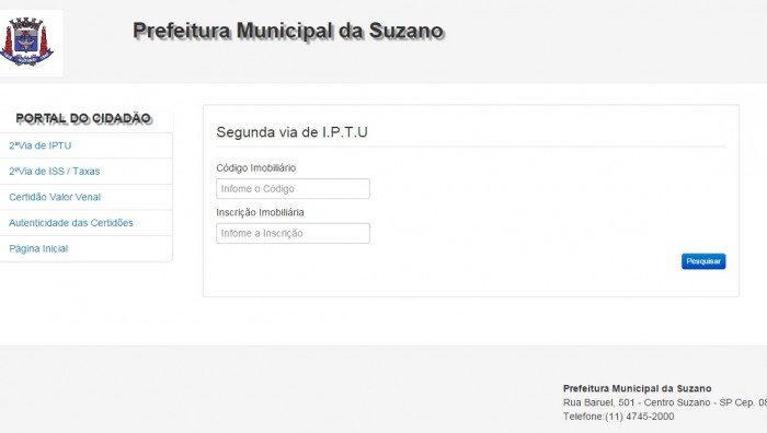 Prefeitura Disponibiliza 2ª Via Do Iptu No Site Suzano