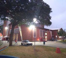 Luminárias da Praça João Pessoa recebem novas lâmpadas de LED