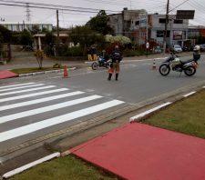Transporte conclui reforço de sinalização em três pontos de Suzano