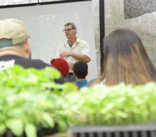 Viveiro Municipal realiza workshop sobre horta vertical