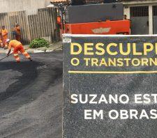 Rua do Jardim Dona Benta recebe serviços de recuperação asfáltica