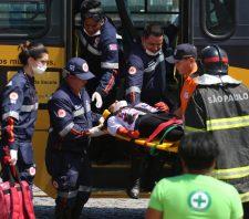 Simulação de acidente mobiliza setores municipais e Corpo de Bombeiros