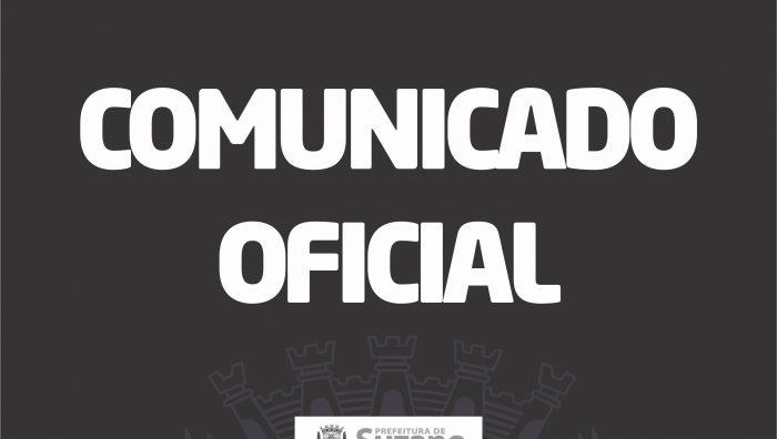 COMUNICADO OFICIAL – ATUALIZAÇÃO (14/03)