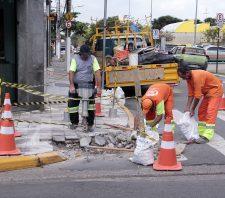 Calçadas da região central de Suzano recebem novas rampas de acesso