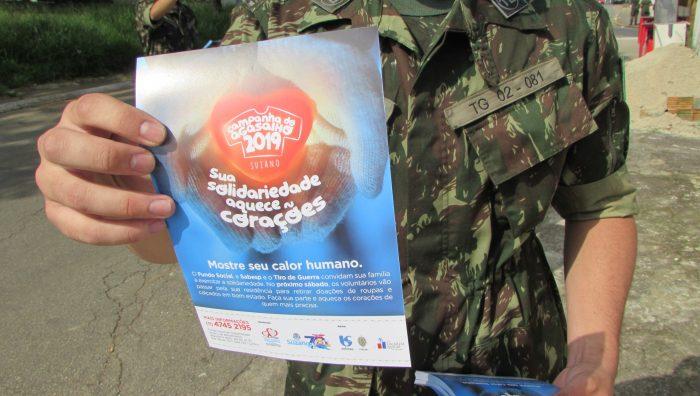 6e653b4c5c17 Panfletagem inicia divulgação para captar doações à Campanha do Agasalho