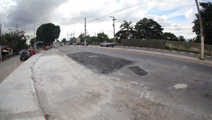 SP-66 tem 1º poço da obra da Sabesp fechado e tráfego é liberado no local