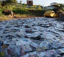 Mídias piratas, cigarros falsificados e réplicas de armas são destruídos