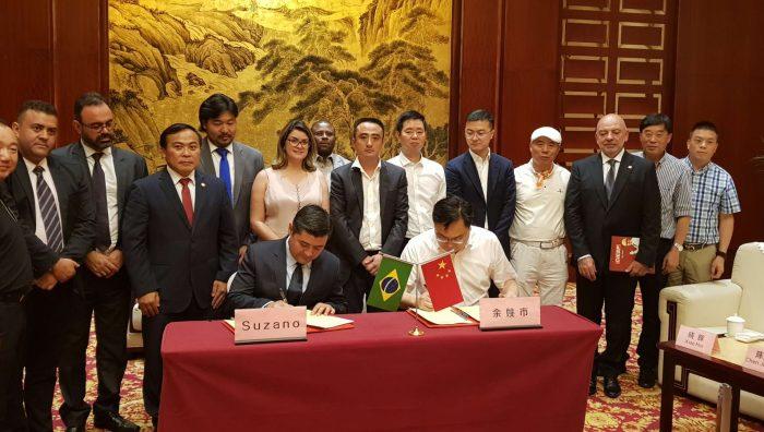 Prefeito de Suzano assina acordo de irmandade com cidade chinesa
