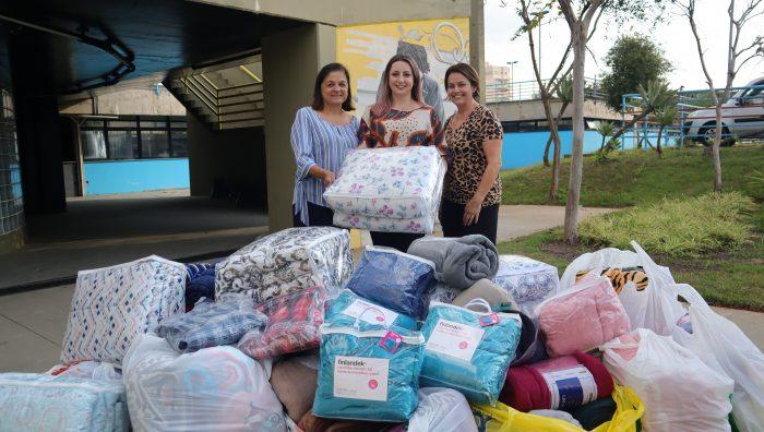 Fundo Social recebe doações de alimentos e cobertores
