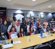 Delegação suzanense nos Jogos Infantis do Estado apresenta resultados ao prefeito