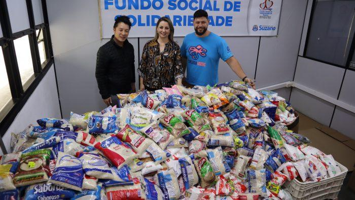 Fundo Social de Suzano recebe três toneladas de alimentos