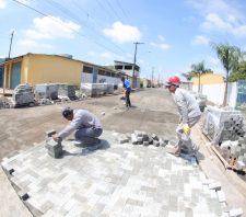 Parque Palmeiras começa a receber obra de pavimentação
