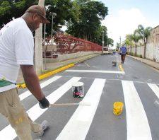Cidade Edson recebe serviços de sinalização de trânsito