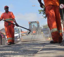 Avenida Francisco Marengo e Vila Figueira recebem asfalto novo