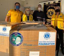 Suzano recebe 500 novas máscaras Face Shield do Lions Club