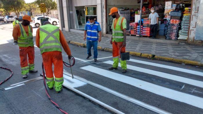 Ruas da região norte ganham nova sinalização de trânsito
