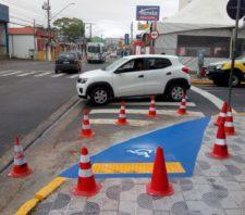 Rampas de acessibilidade são instaladas nas esquinas das ruas Baruel e Ipiranga