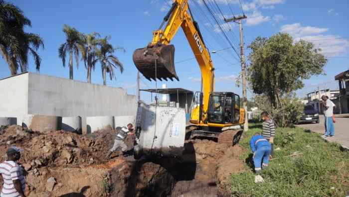 Sistema de drenagem começa a ser ampliado na avenida Jaguari