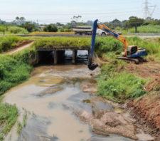 Desassoreamento do rio Taiaçupeba-Mirim é concluído