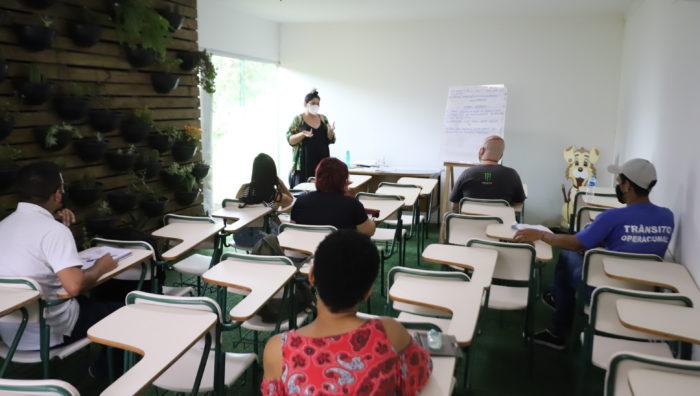 Saspe inicia aulas presenciais da formação básica em jardinagem